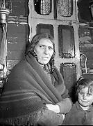 Ballinasloe Tinker Housing Story - Mrs Bridget Stokes, a tinker on the Bog Rd, Ballinasloe, Co. Galway.28/01/1957