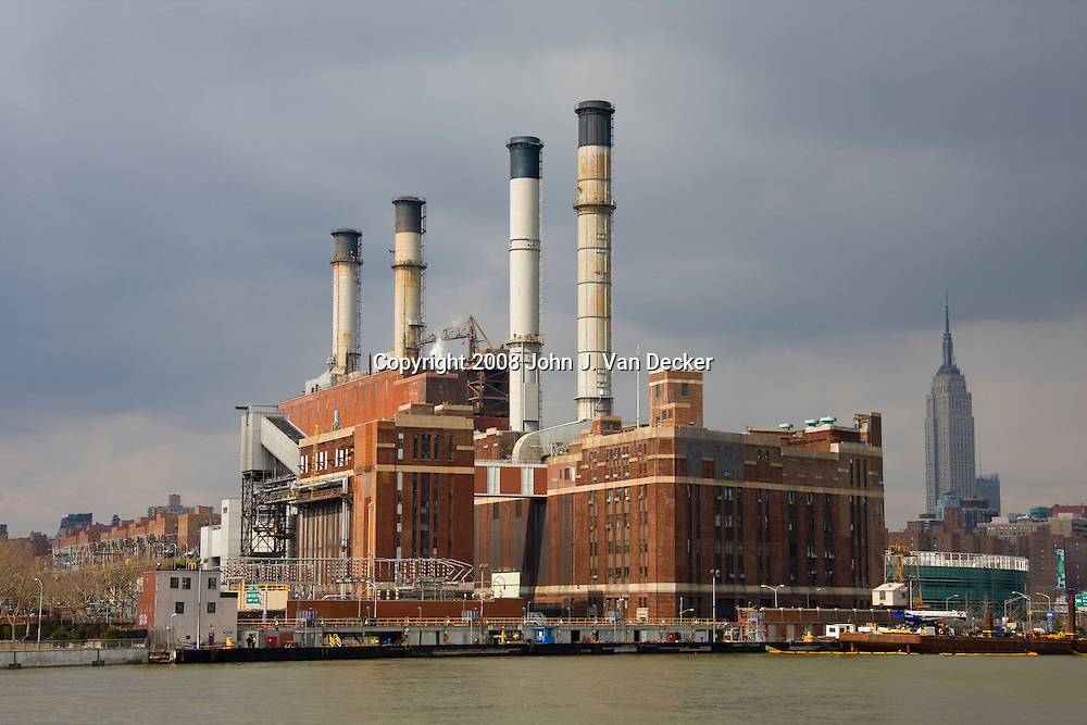 Consolidated Edison Power Plant, East 14th Street, New York City