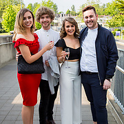 11.05. 2017.                                                 <br /> Over 20 leading Irish and international fashion media and influencers converged on Limerick for 24 hours on, Thursday, 11th May for a showcase of Limerick's fashion industry, culminating with Limerick School of Art & Design, LIT, presenting the LSAD 360° Fashion Show, sponsored by AIB.<br /> Pictured at the event were, Rebecca McDermott, Youghall Co. Cork, Aran Crotty, Clonmel Co. Tipperary, Lisa O'Neill, Clonakilty Co. Cork and Jack Roche, Enniscorthy Co. Wexford. Picture: Alan Place