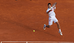 MONTE-CARLO, MONACO - Thursday, April 15, 2010: Novak Djokovic (SRB) in action during the Men's Singles 3rd Round match on day four of the ATP Masters Series Monte-Carlo at the Monte-Carlo Country Club. (Photo by David Rawcliffe/Propaganda)