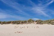 Sylt, Germany. Ellenbogen (Elbow), Sylt's Northernmost point. Sylt 2013.
