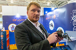 Binary Bots offer robotic kits to retailers at  the Toy Fair at Kensington Olympia in London, the UK's largest dedicated game and hobby exhibition featuring the hottest and most anticipated products for the year ahead. London, January 22 2019.