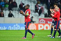 Deception Rio MAVUBA / Florent BALMONT / Marko BASA - 03.02.2015 - Lille / Paris Saint Germain - 1/2Finale Coupe de la Ligue<br />Photo : Dave Winter / Icon Sport