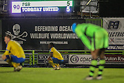 Final score, Forest Green Rovers 5 Torquay United 5 during the Vanarama National League match between Forest Green Rovers and Torquay United at the New Lawn, Forest Green, United Kingdom on 1 January 2017. Photo by Shane Healey.