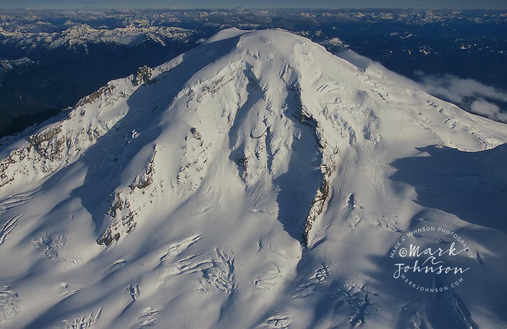 Aerial of Mt. Baker, Northern Cascade Range, Washington