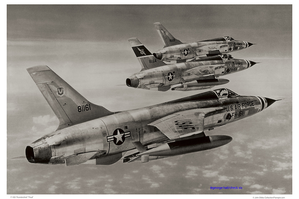 F-105s flying formation, WWII