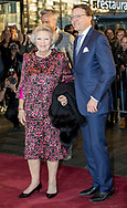 Tilburg , 03-04-2017 <br /> <br /> King Willem-Alexander and Queen Maxima, Princess Beatrix and Prince Constantijn attend the Kingsway Concert at The Tilburg Theatres.<br /> <br /> PUBLICATION ONLY IN FRANCE<br /> <br /> COPYRIGHT: ROYALPORTRAITS EUROPE/ BERNARD RUEBSAMEN