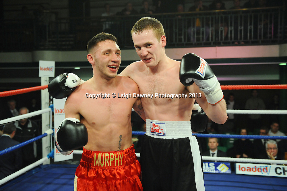 Danny Murphy defeats Gareth Piper in a welterweight contest at York Hall, Bethnal Green, London, UK on the 15th March 2013. Frank Maloney Promotions. © Leigh Dawney Photography 2013.