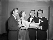 23/10/1953<br /> 10/23/1953<br /> 23 October 1953<br /> <br /> Radio Review Special  at theatre Royal<br /> Joe Loss (second from right) Norman Metcalfe (far left)