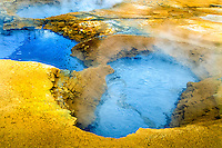 Iceland. Geothermal activity at Namafjall close to Krafla. Mudpools.
