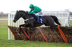 Fred D'Esruval ridden by jockey Daryl Jacob competes in the Weatherbys Chatteris Fen Juvenile Hurdle
