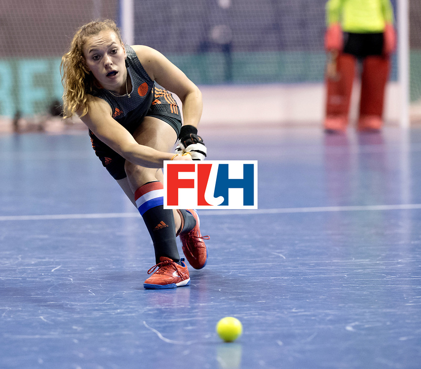 BERLIN - Indoor Hockey World Cup<br /> Women: Netherlands - United States<br /> foto: Mila Muyselaar.<br /> WORLDSPORTPICS COPYRIGHT FRANK UIJLENBROEK