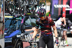 Alexis Ryan (USA) makes her way to sign on for Stage 9 of 2019 Giro Rosa Iccrea, a 125.5 km road race from Gemona to Chiusaforte, Italy on July 13, 2019. Photo by Sean Robinson/velofocus.com
