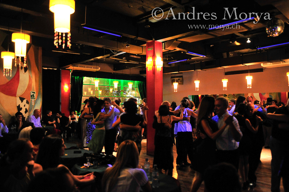 Tango Dancers in the Milonga El Beso, Buenos Aires, Argentina Image by Andres Morya