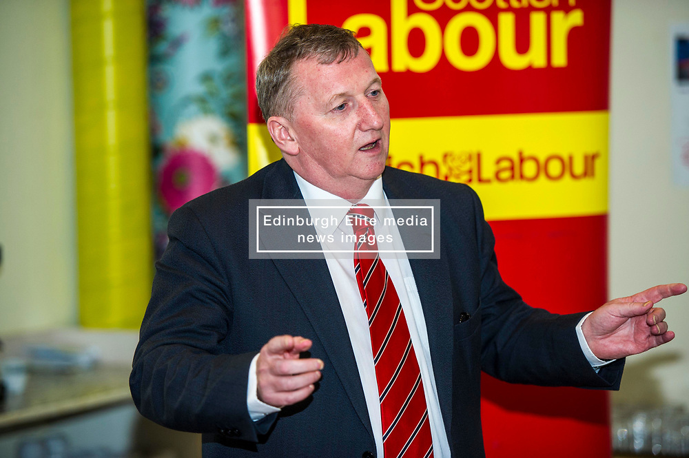 Pictured: Alex Rowley<br /> Scottish Labour deputy leader Alex Rowley was joined by Edinburgh City Council leader Andrew Burns at the Serenity Cafe in Edinburgh today to launch the party's local government election manifesto. <br /> Ger Harley | EEm 21 March 2017