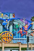 Warner Brothers Studios Comic Book heroic characters Burbank CA ,Super Hero's Warner Bros. Burbank, CA