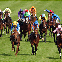 The Epsom Derby 2003 - coming up to finish and it's neck and neck!