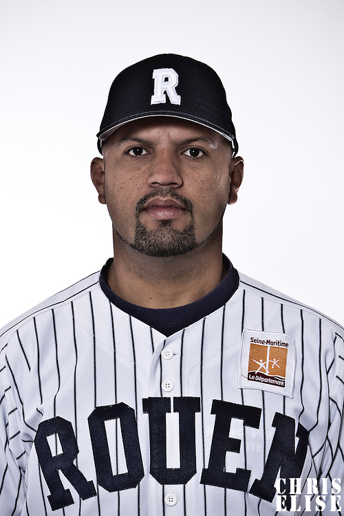 02 June 2010: Portrait of Keino Perez during day 1 of the 2010 Baseball European Cup in Brno, Czech Republic. First game is canceled due to a rainout.