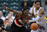NBA-Indiana Pacers vs Portland Trailblazers Indianapolis, IN