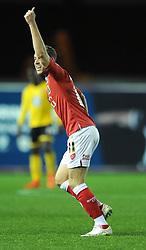 Bristol City's Scott Wagstaff - Photo mandatory by-line: Dougie Allward/JMP - Mobile: 07966 386802 - 11/11/2014 - SPORT - Football - Bristol - Ashton Gate - Bristol City v AFC Wimbledon - Johnstone Paint Trophy