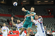 Vadim Gayduchencko (Belarus) during the EHF 2018 Men's European Championship, 2nd Round, Handball match between Serbia and Belarus on January 24, 2018 at the Arena in Zagreb, Croatia - Photo Laurent Lairys / ProSportsImages / DPPI