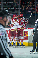 REGINA, SK - MAY 22: \The Acadie-Bathurst Titan celebrate a goal against the Hamilton Bulldogs at the Brandt Centre on May 22, 2018 in Regina, Canada. (Photo by Marissa Baecker/CHL Images)