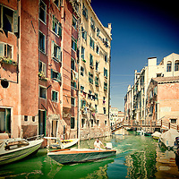 Typical Venetian houses, Cannaregio, Venice, Italy