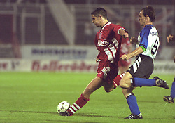 BERLIN, GERMANY - Sunday, August 7, 1994: Liverpool's Jamie Redknapp during a preseason friendly between Hertha BSC Berlin and Liverpool FC at the Olympiastadion. Liverpool won 3-0. (Pic by David Rawcliffe/Propaganda)