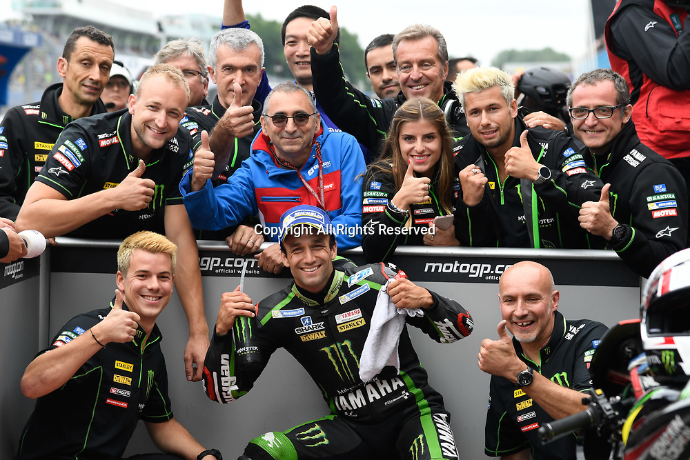 June 24th 2017, TT Circuit, Assen, Netherlands; MotoGP Grand Prix TT Assen, Qualifying Day; Johann Zarco (Monster Yamaha Tech3) at parc ferme as he takes pole position