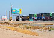 Train Passing Through Salton Sea