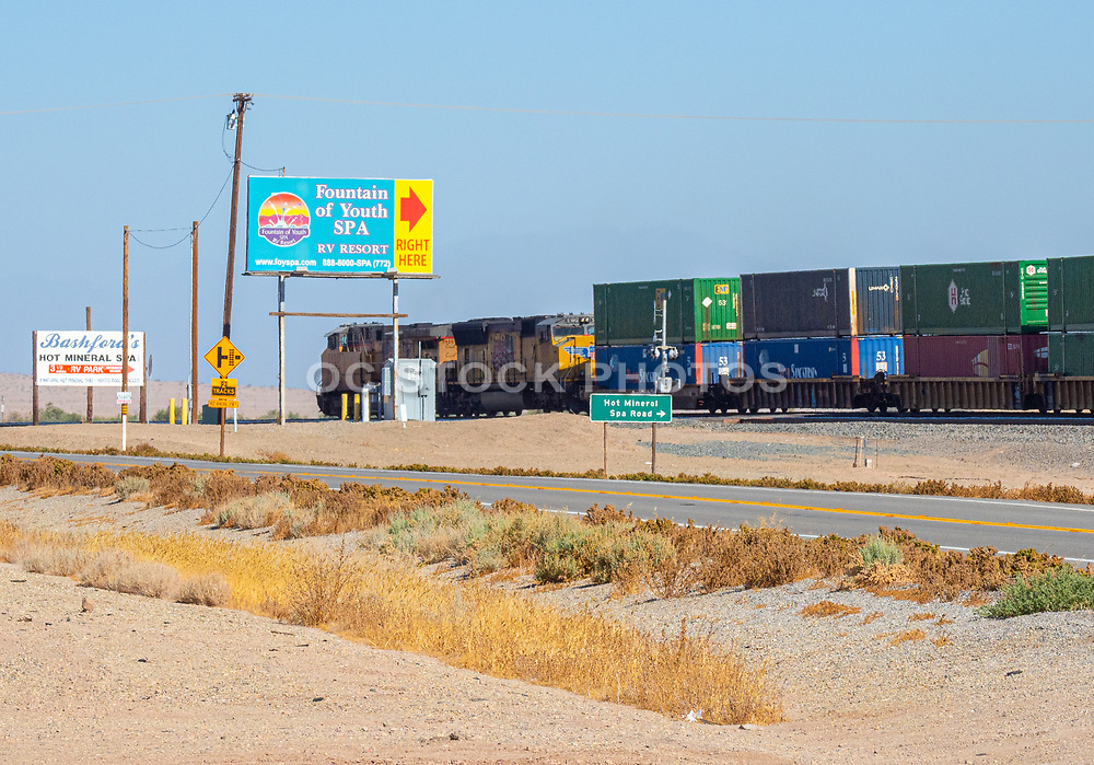 Train Passing Through Salton Sea