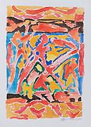 "Laki Senanayake. Magic Carpet 2010.<br /> 14"" x 10""<br /> Water Colour"