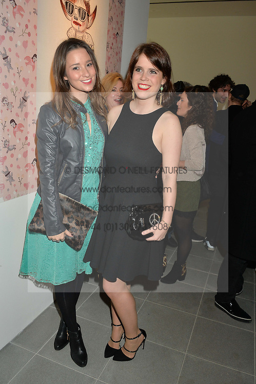 Left to right, KELLY EASTWOOD and PRINCESS EUGENIE OF YORK at the Future Contemporaries Party in association with Coach at The Serpentine Sackler Gallery, West Carriage Drive, Kensington Gardens, London on 21st February 2015.
