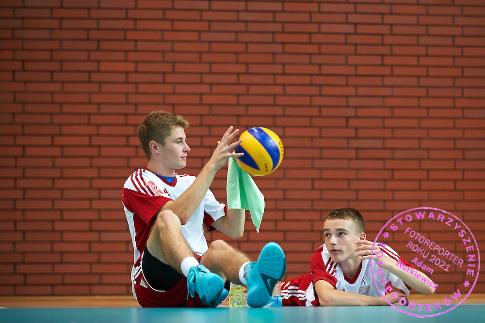 Volleyball match between SO Poland (white-red) and SO USA (blue) during of The Special Olympics Unified Volleyball Tournament at Ursynow Arena in Warsaw on August 28, 2014.<br /> <br /> Poland, Warsaw, August 28, 2014<br /> <br /> For editorial use only. Any commercial or promotional use requires permission.<br /> <br /> Mandatory credit:<br /> Photo by &copy; Adam Nurkiewicz / Mediasport