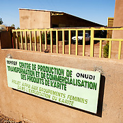 Gate of the Si Yiriwa shea processing center in the town of Diolila, Mali on Friday January 15, 2010.