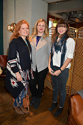 Left to right, CHARLOTTE LASCELLES, LIZZIE KING and LUCY SMITH at a ladies lunch hosted by Thomasina Miers was held at her restaurant Wahaca, 19-23 Charlotte Street, London W1 on 10th January 2014.