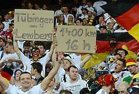 FUSSBALL  EUROPAMEISTERSCHAFT 2012   VORRUNDE Daenemark - Deutschland       17.06.2012 Fans der deutschen Nationalmannschaft haben sind 16 Stunden die 1400 km von Tuebingen nach Lemberg gefahren