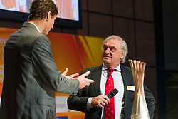 31-01-2019 NED: Kick-off World Championship  Volleybal 2022, Arnhem<br /> Presentation of the kick off World Championship Volleyball held in Netherlands an Poland / Bas van de Goor and André Bolhuis