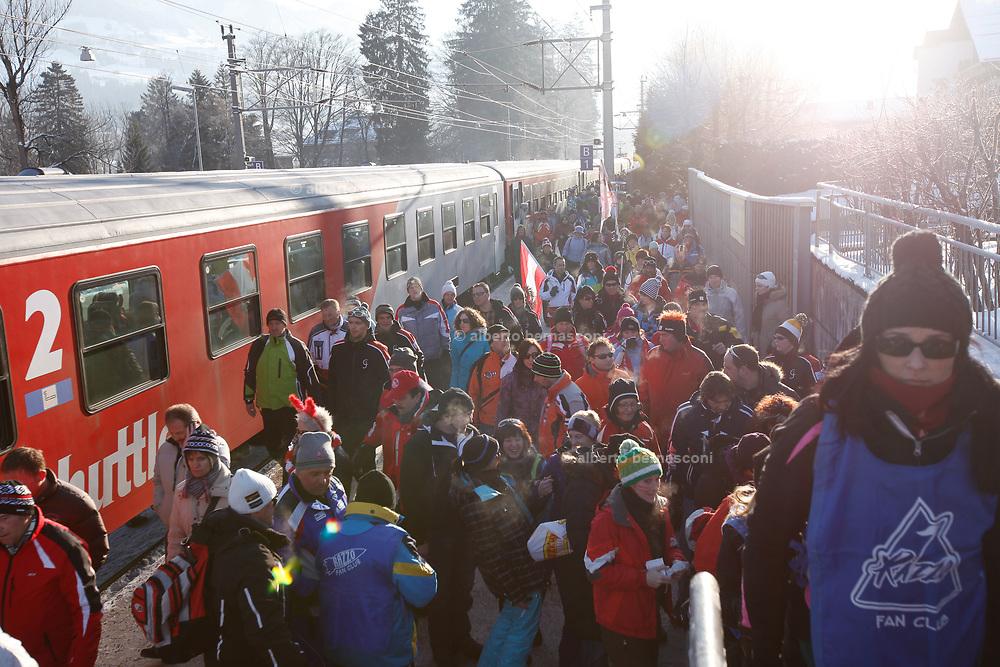 Austria , Kitzbuhel ,  Downhill ski world cup.