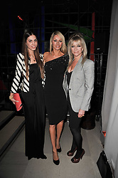 Left to right, AMBER LE BON, TESS DALY and JO WOOD at the 2nd Rodial Beautiful Awards in aid of the Hoping Foundation held at The Sanderson Hotel, 50 Berners Street, London on 1st February 2011.