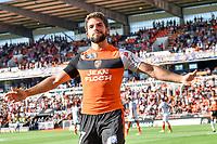 Joie sur le but de Cabot Jimmy (FC Lorient)<br /> SOCCER : Lorient vs Lens - Cup of league - 22/08/2017<br /> Norway only