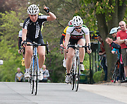 In photo: winner of the ladies race, Charlotte Colcough(corr) from Sleaford Wheelers.<br />