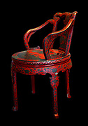 Lacquer chair, 1800s, China.
