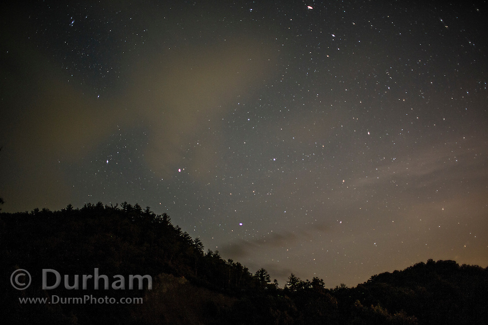 Stars over the Cherokee National Forest, Tennessee.
