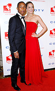 Pharrell Williams and Katharina Harf pose at the 5th Annual DKMS Gala at Cipriani Wall Street in New York City on April 28, 2011.