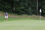 Peter Sheehan (Ballybunion) on the 15th green during Round 2 of The Ulster Seniors Open Championship in Lough Erne Golf Club, Enniskillen, Co. Fermanagh on Tuesday 30th July 2019.<br /> <br /> Picture:  Thos Caffrey / www.golffile.ie<br /> <br /> All photos usage must carry mandatory copyright credit (© Golffile | Thos Caffrey)