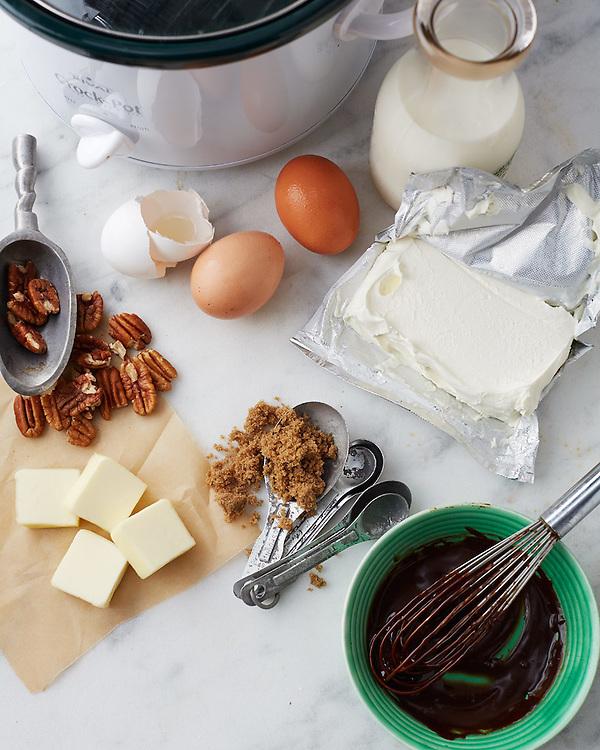 Slow-Cooker Dessert Ingredient Still Life