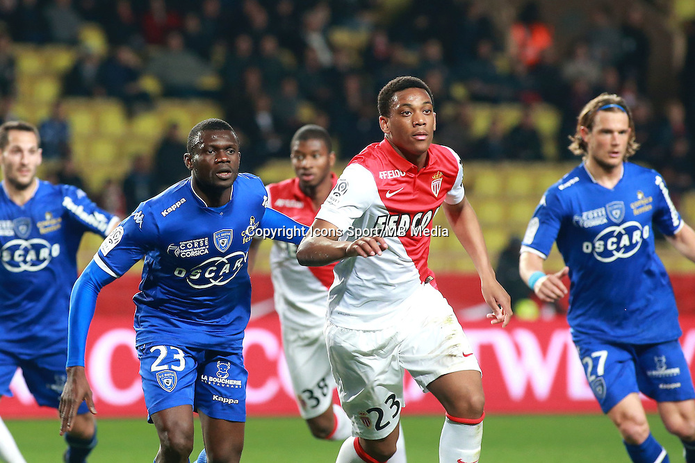 DIAKITE DRISSA / MARTIAL ANTHONY - 13.03.2015 -   Monaco / Bastia -  29eme journee de Ligue 1 <br />Photo : Serge Haouzi / Icon Sport