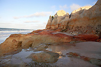 view of Praia das fontes the springs beach between morro branco and beberibe near fortaleza ceara state brazil