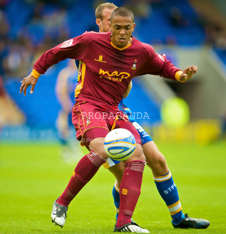 SHREWSBURY, ENGLAND - Saturday, September 5, 2009: Bradford City's Steve Williams during the League Two match at the New Meadow. (Photo by David Rawcliffe/Propaganda)